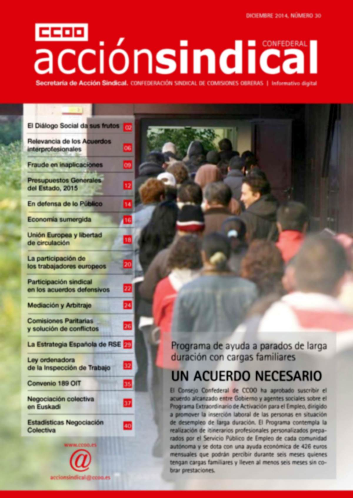 Informativo Digital Acción Sindical Confederal, nº 30