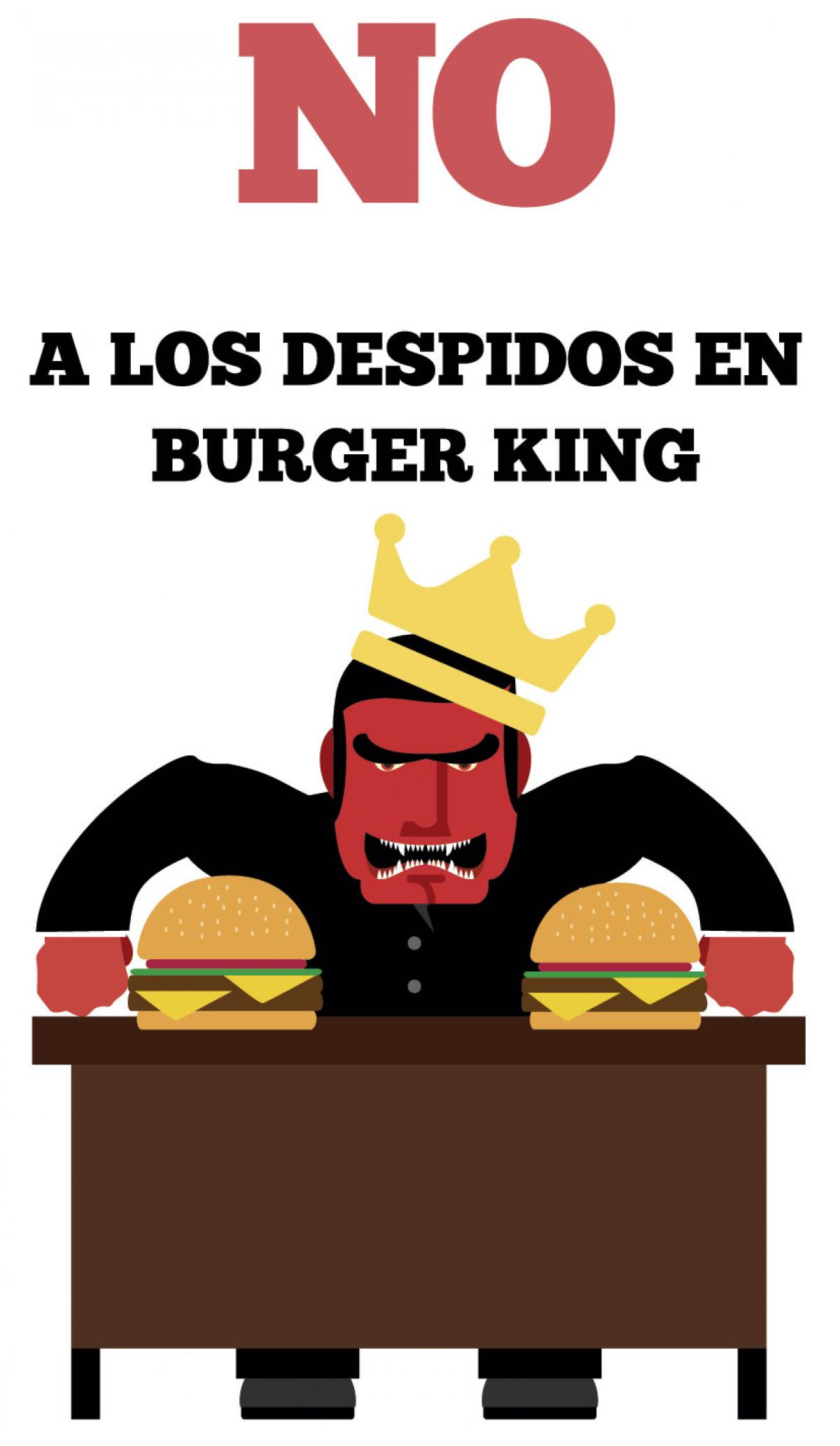 CCOO se moviliza contra los despidos en Burger King