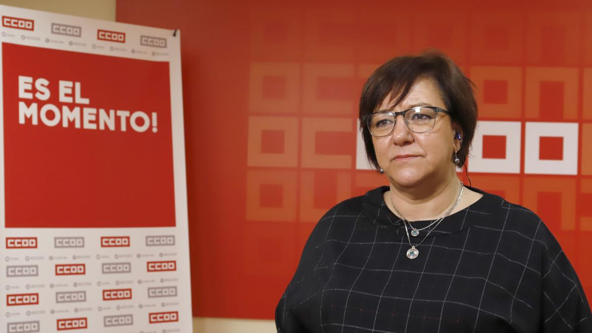 Mari Cruz Vicente, secretaria de Acción Sindical de CCOO