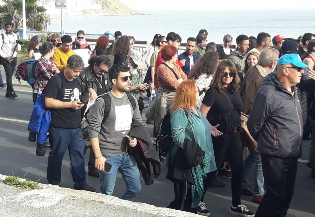 La secretaria confederal de Empleo y Cualificación Profesional de CCOO, Lola Santillana, ha participado este sábado en la VII Marcha por la Dignidad en la ciudad de Ceuta