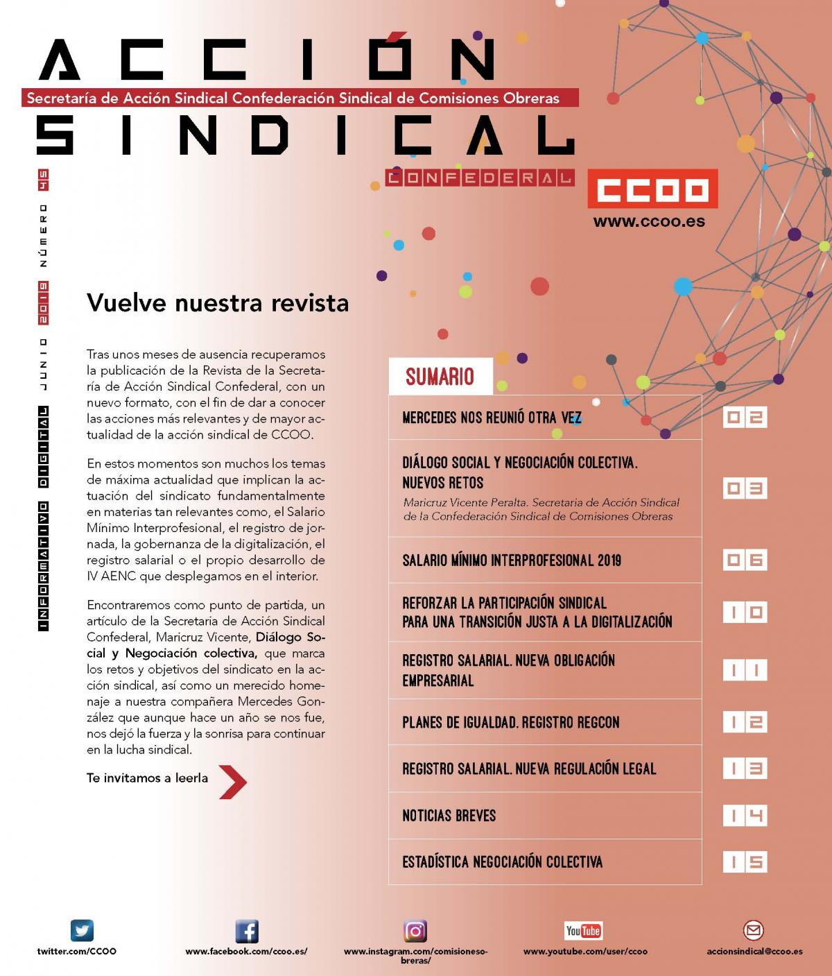 Informativo Digital Acción Sindical Confederal, nº 45