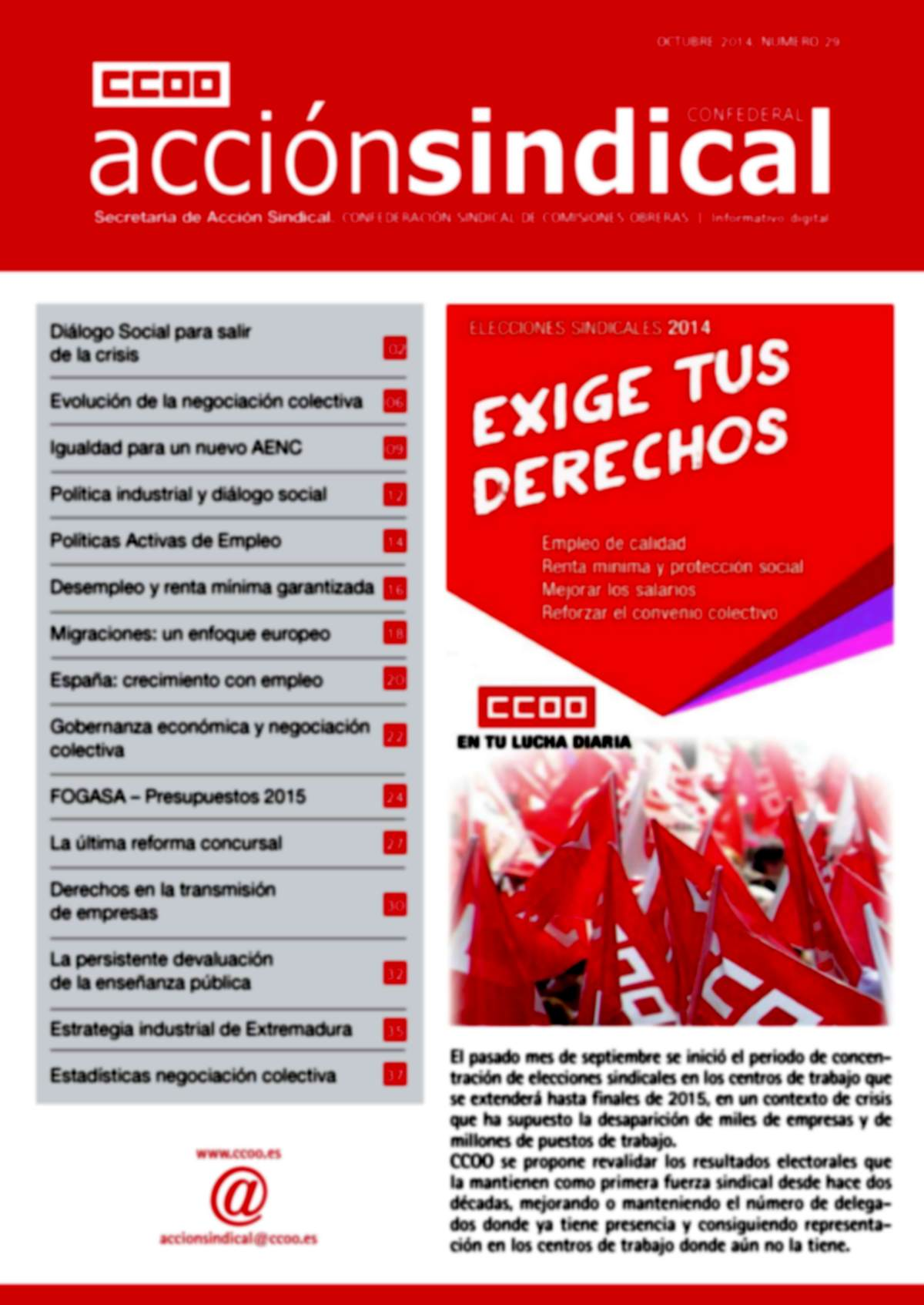 Informativo Digital Acción Sindical Confederal, nº 29