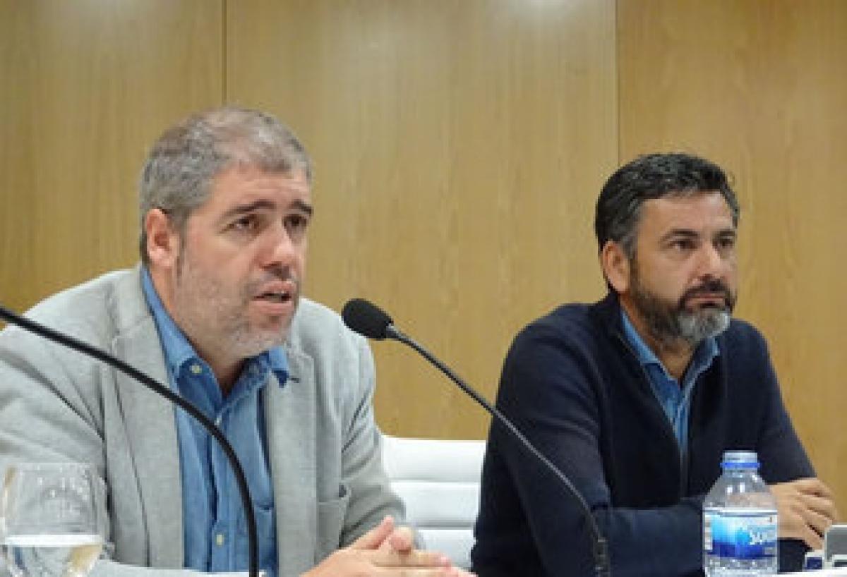 Unai Sordo junto a Ramón Sarmiento en el Consejo Nacional de CCOO de Galicia