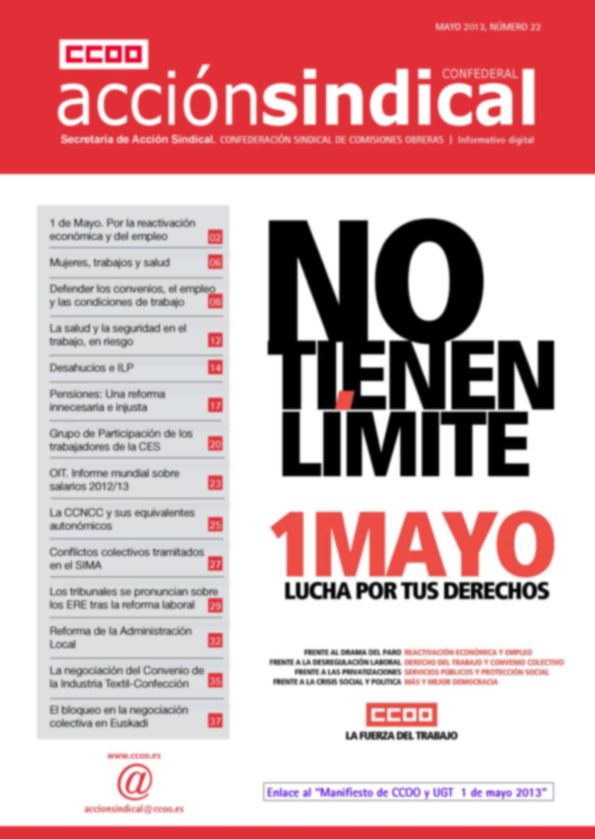 Informativo Digital Acción Sindical Confederal, nº 22
