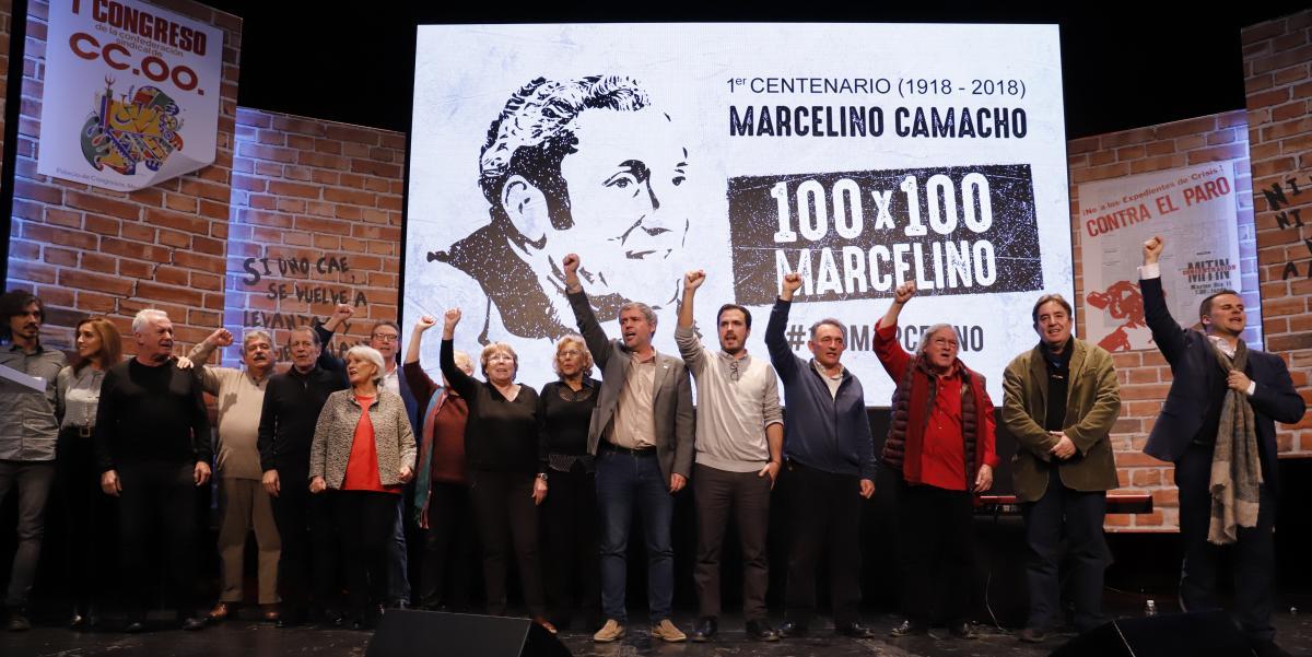 Emotivo homenaje a Marcelino Camacho, una figura insustituible del sindicalismo español del siglo XX