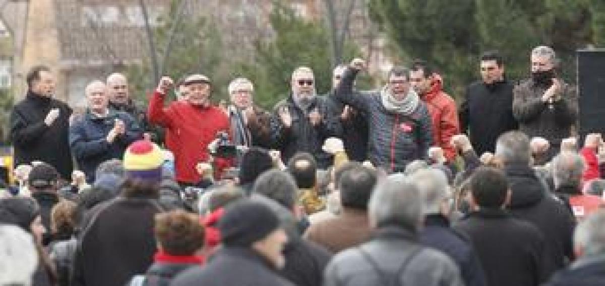 """Movilización contra el juicio a """"Los 8 de Airbus"""". Foto de archivo"""