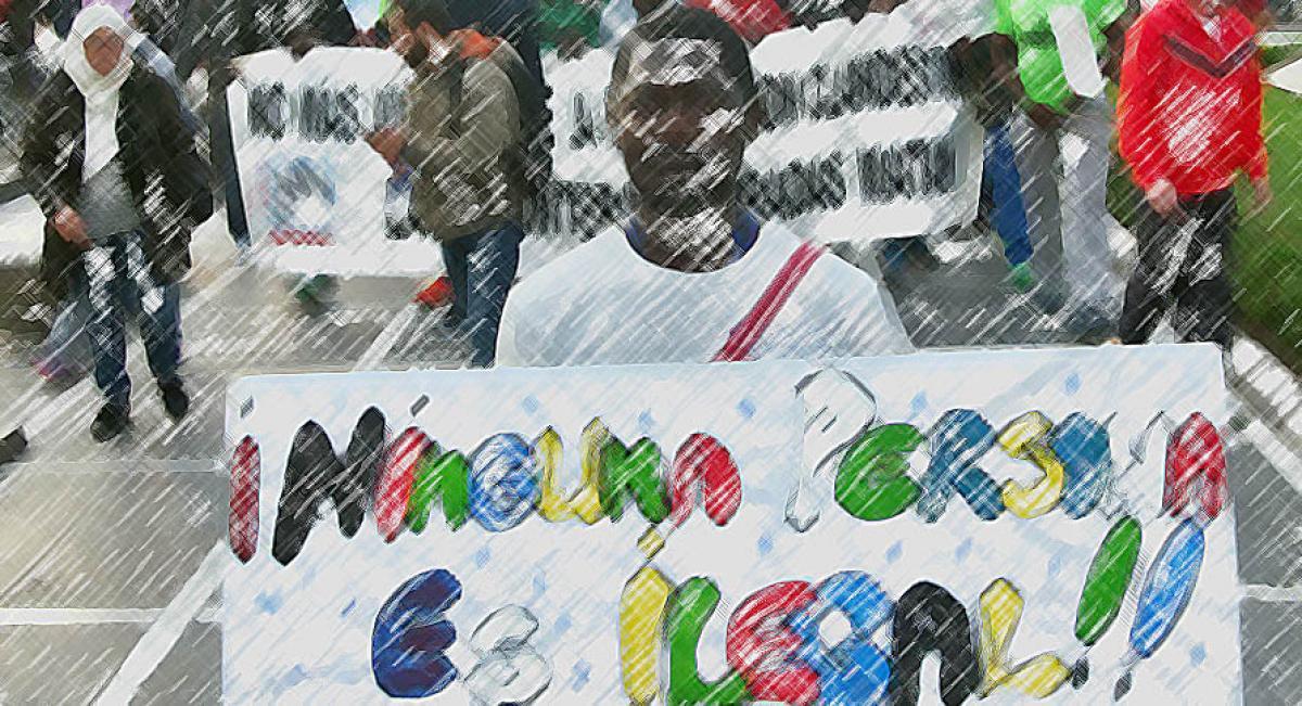 CCOO con la VII Marcha por la Dignidad en Ceuta