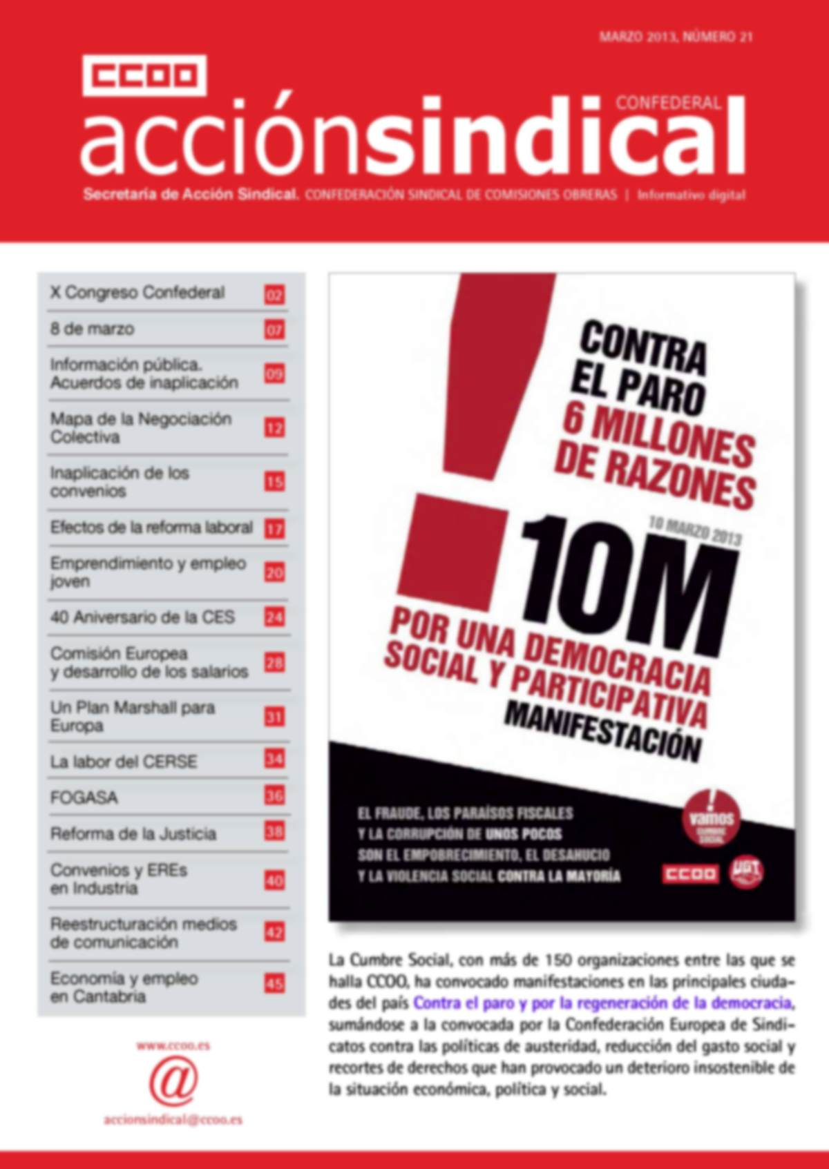 Informativo Digital Acción Sindical Confederal, nº 21