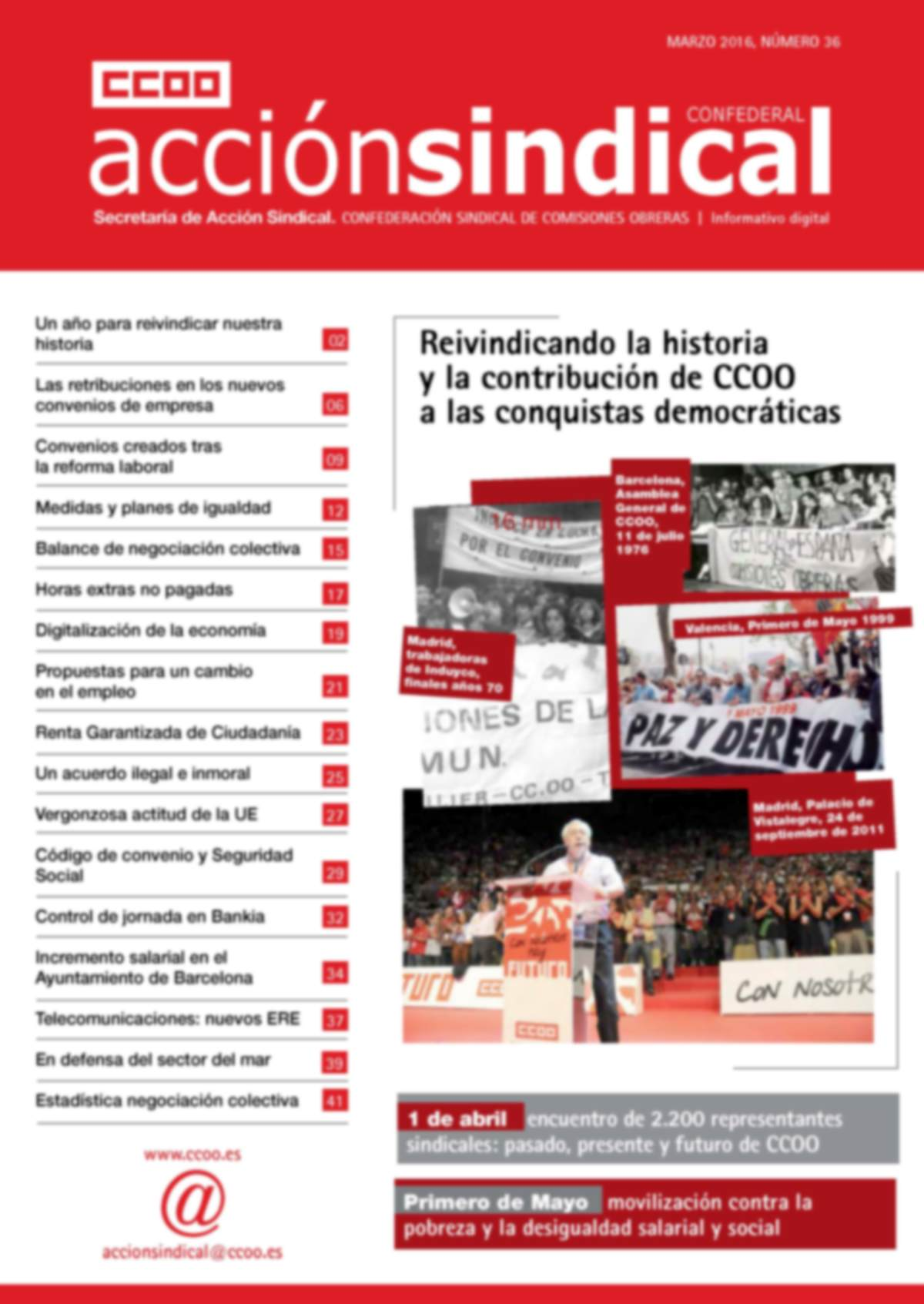 Revista de Acción Sindical Confederal, nº 36
