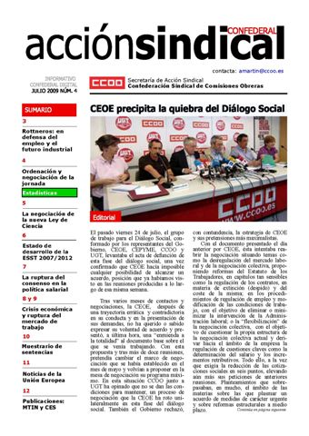 Informativo Digital Acción Sindical Confederal, nº 4