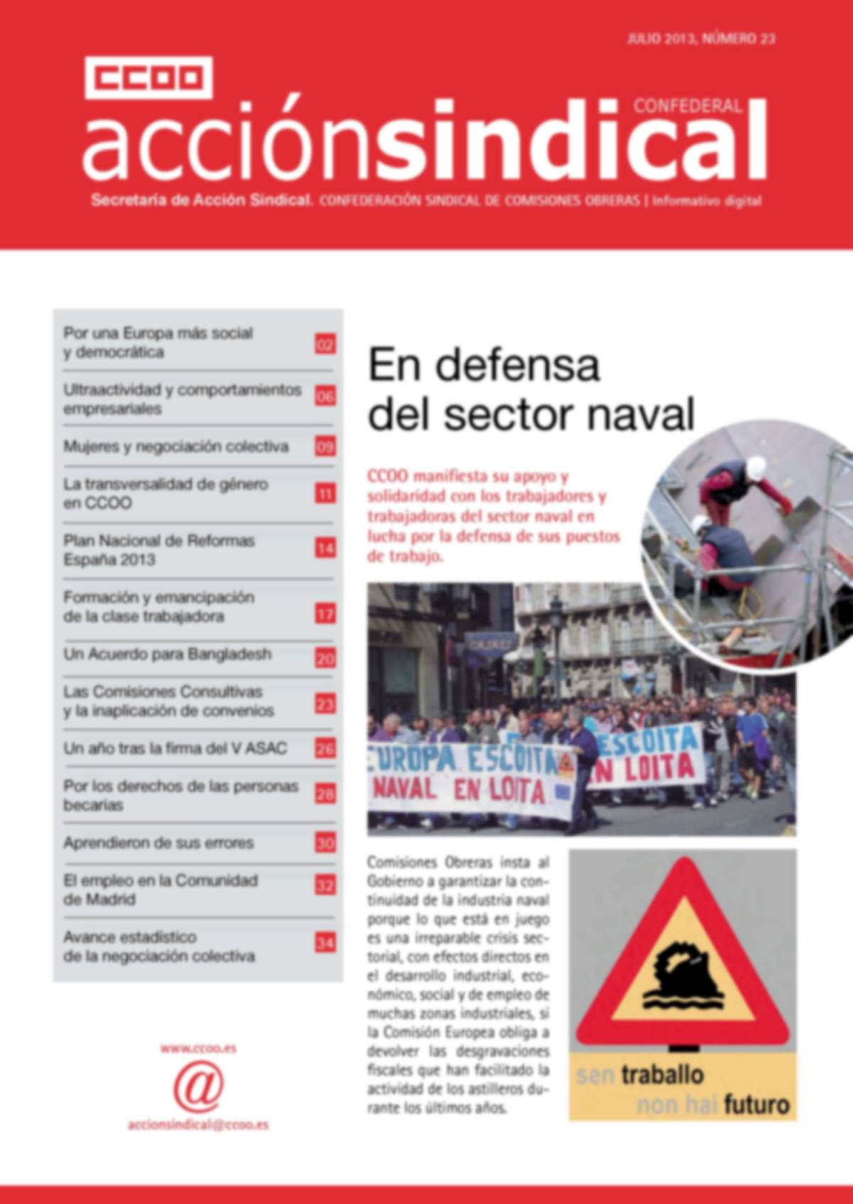 Informativo Digital Acción Sindical Confederal, nº 23
