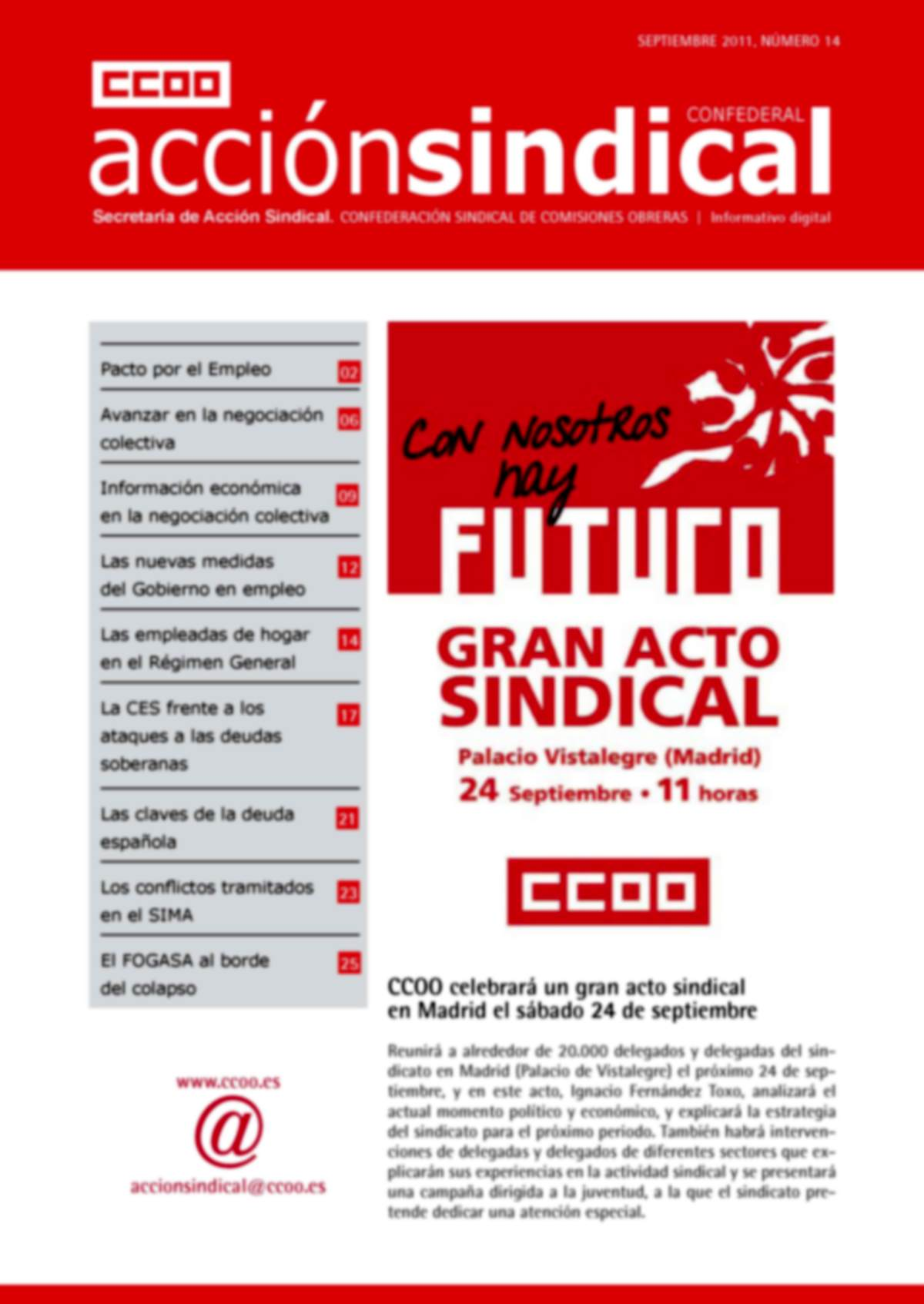 Informativo Digital Acción Sindical Confederal, nº 14