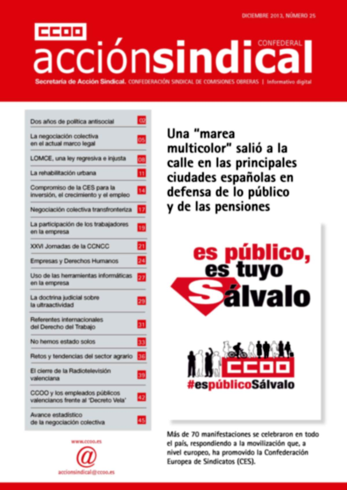 Informativo Digital Acción Sindical Confederal, nº 25