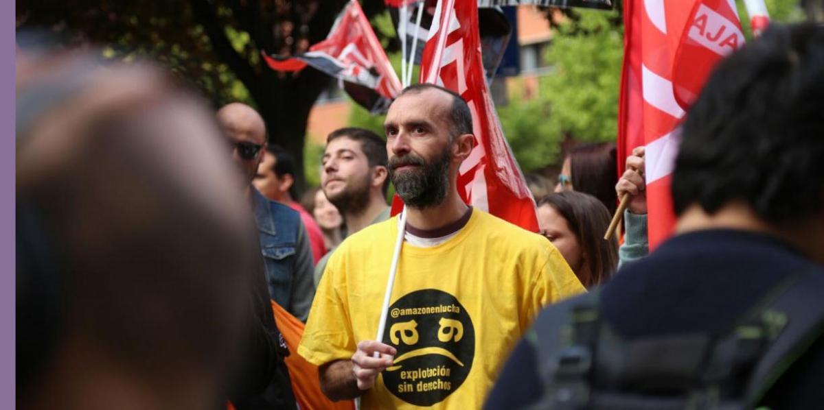 La plantilla de Amazon España se manifiesta en Madrid