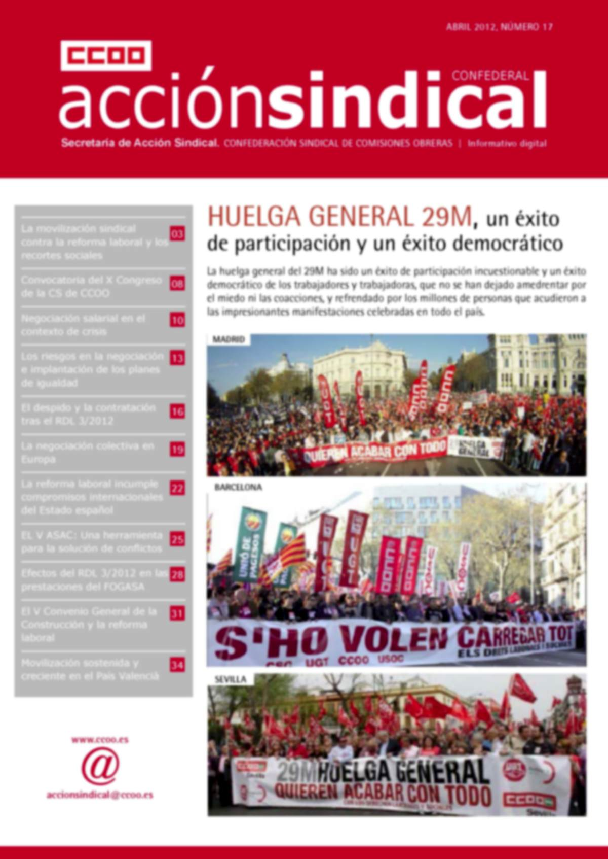 Informativo Digital Acción Sindical Confederal, nº 17