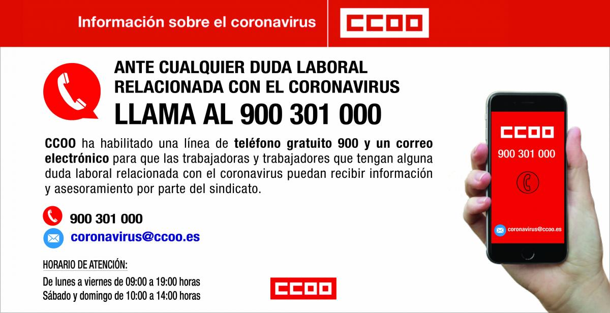 Línea telefónica coronavirus