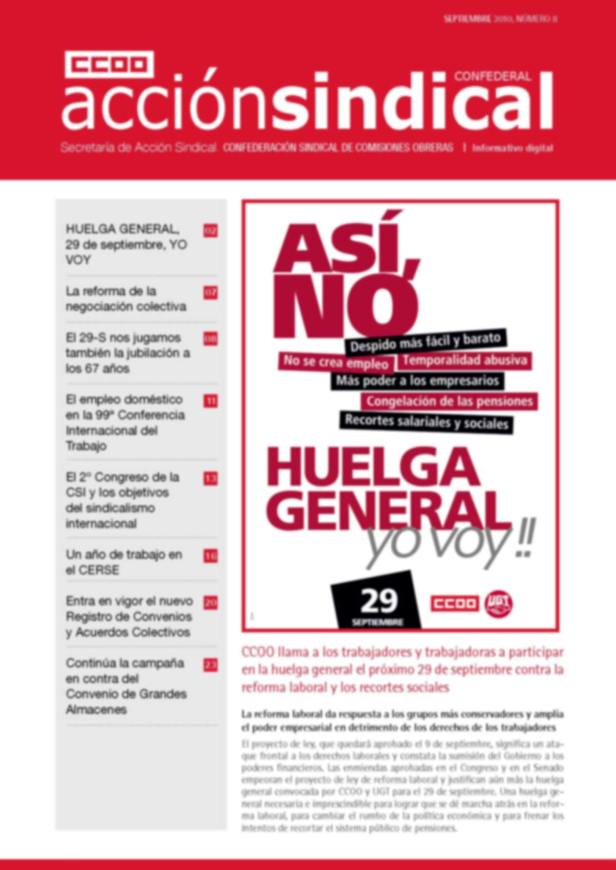 Informativo Digital Acción Sindical Confederal, nº 8