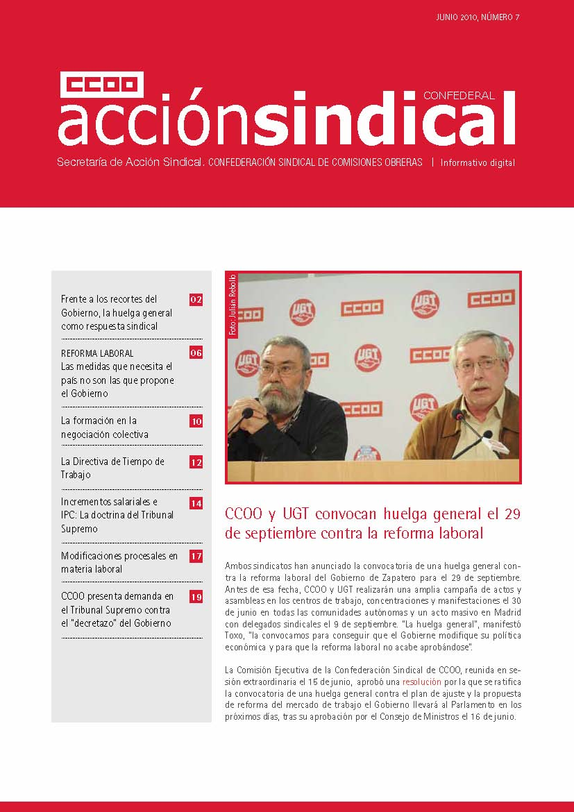 Informativo Digital Acción Sindical Confederal, nº 7