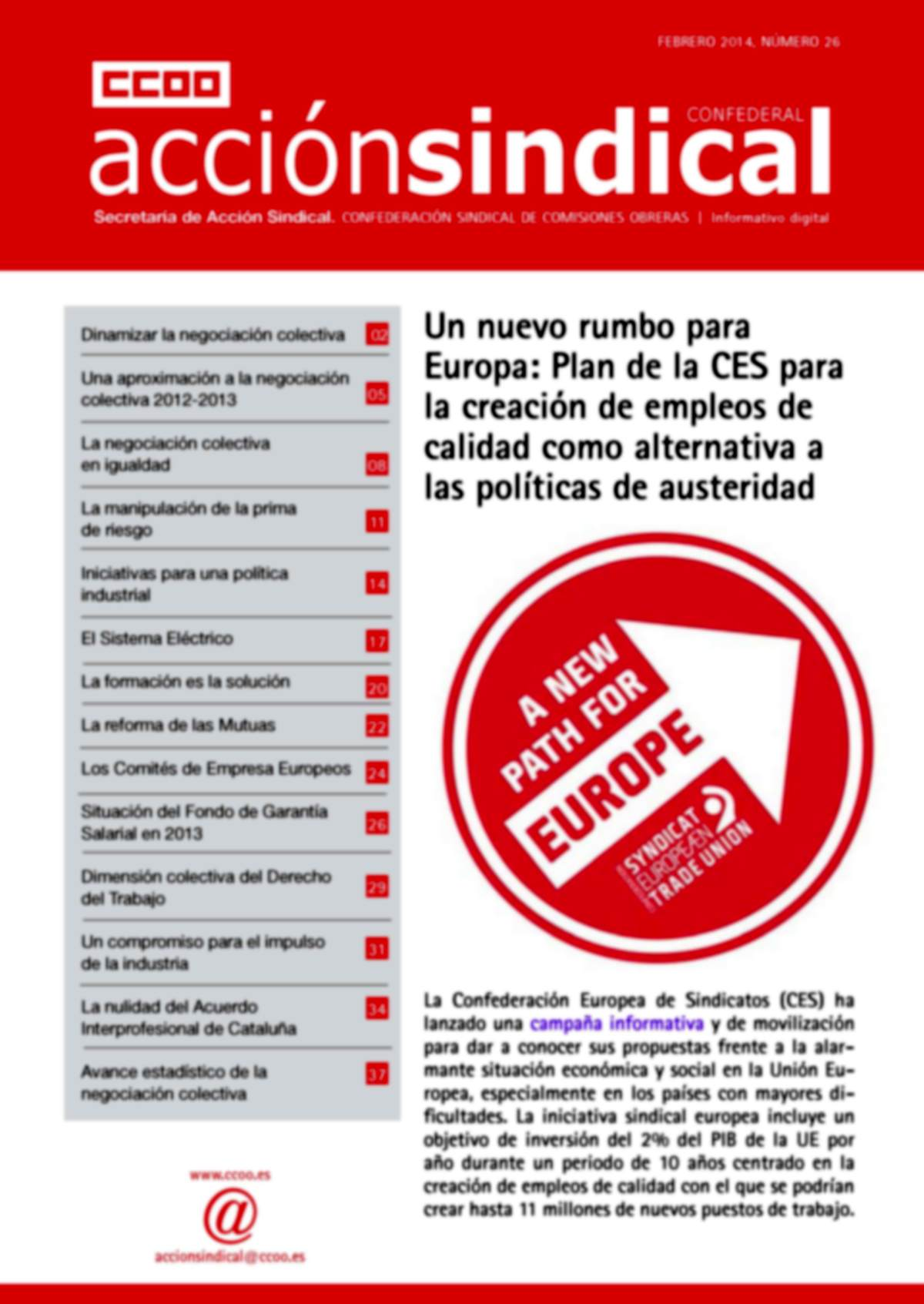 Informativo Digital Acción Sindical Confederal, nº 26