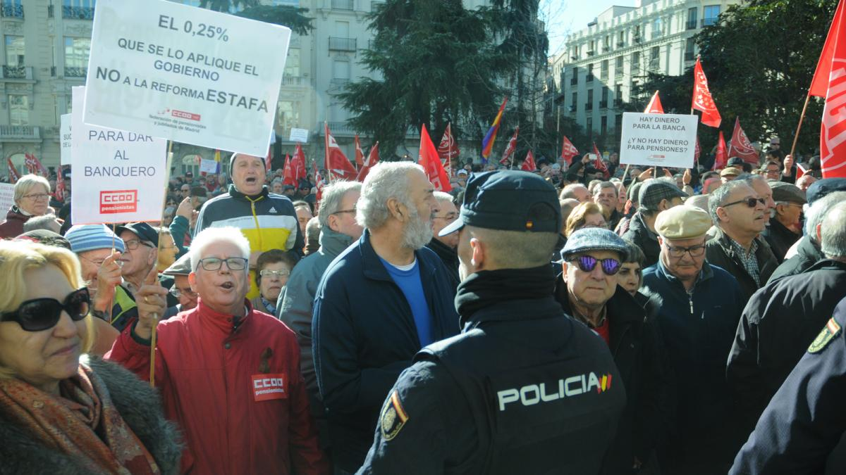 Aspecto de la concentración en Madrid