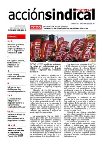 Informativo Digital Acción Sindical Confederal, nº 6