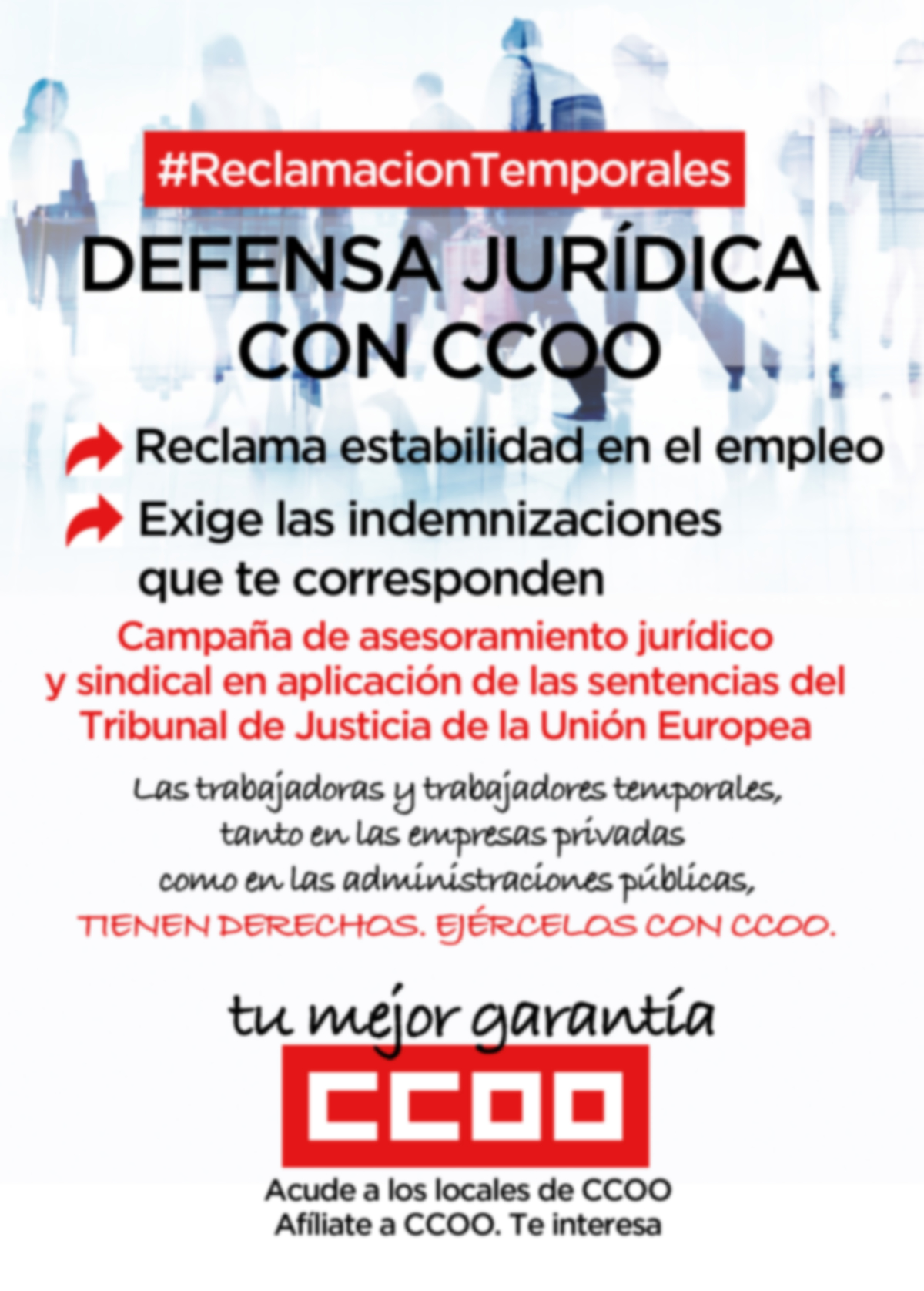 Cartel defensa jurídica