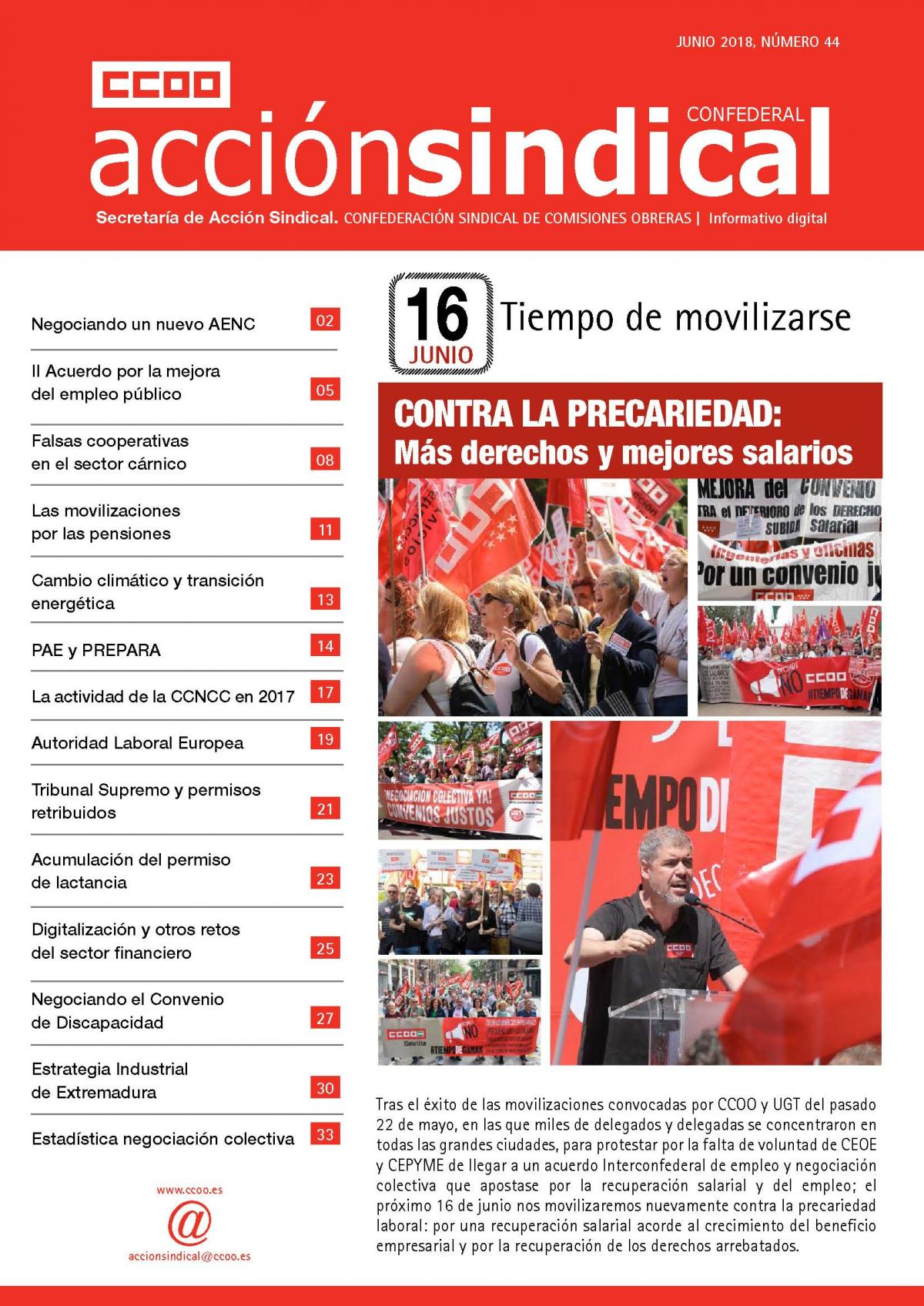 Informativo Digital Acción Sindical Confederal nº 44