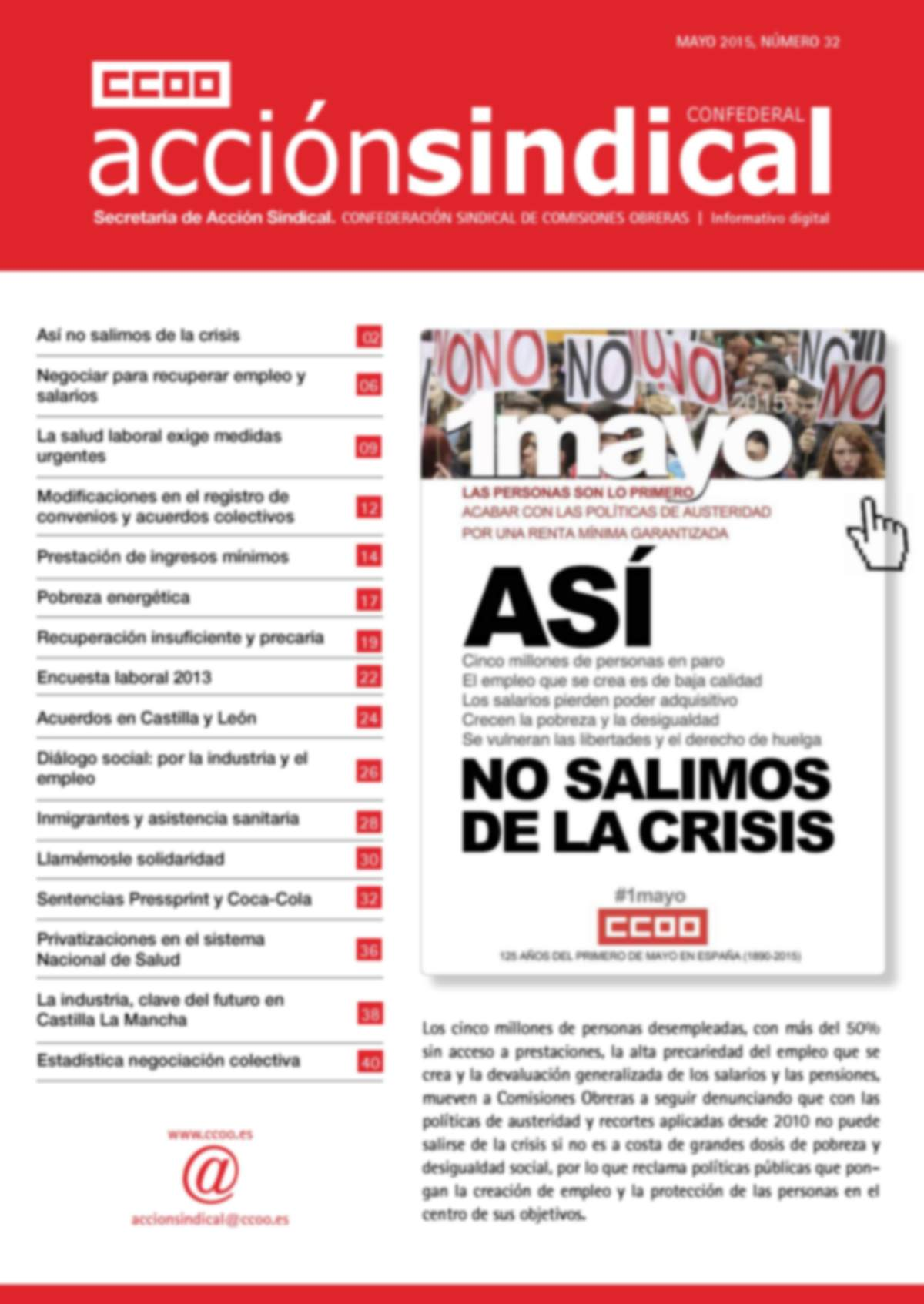 Informativo Digital Acción Sindical Confederal, nº 32