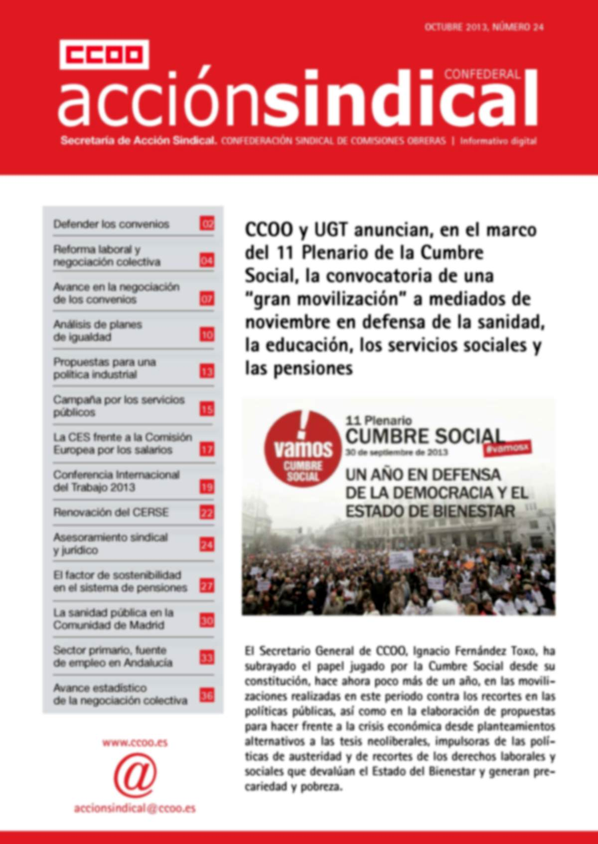 Informativo Digital Acción Sindical Confederal, nº 24