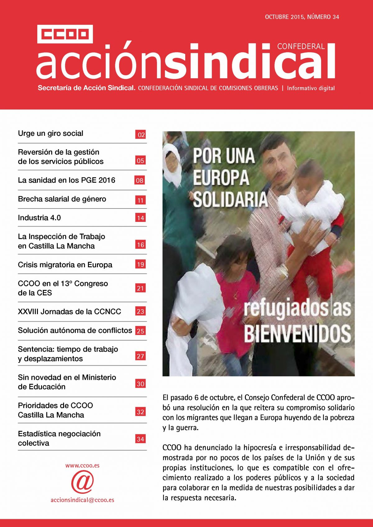 Revista de Acción Sindical Confederal, nº 34