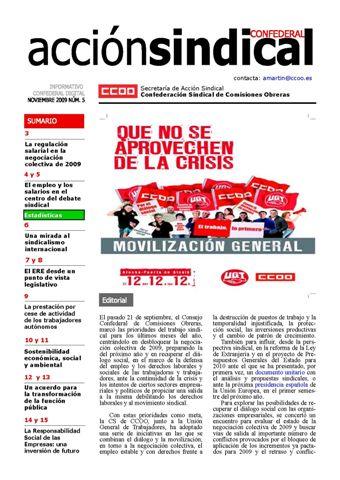 Informativo Digital Acción Sindical Confederal, nº 5