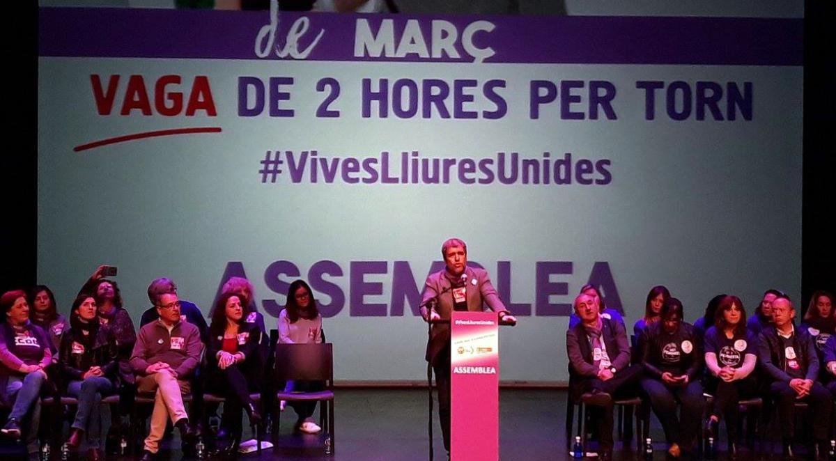 Unai Sordo en la asamblea de Valencia