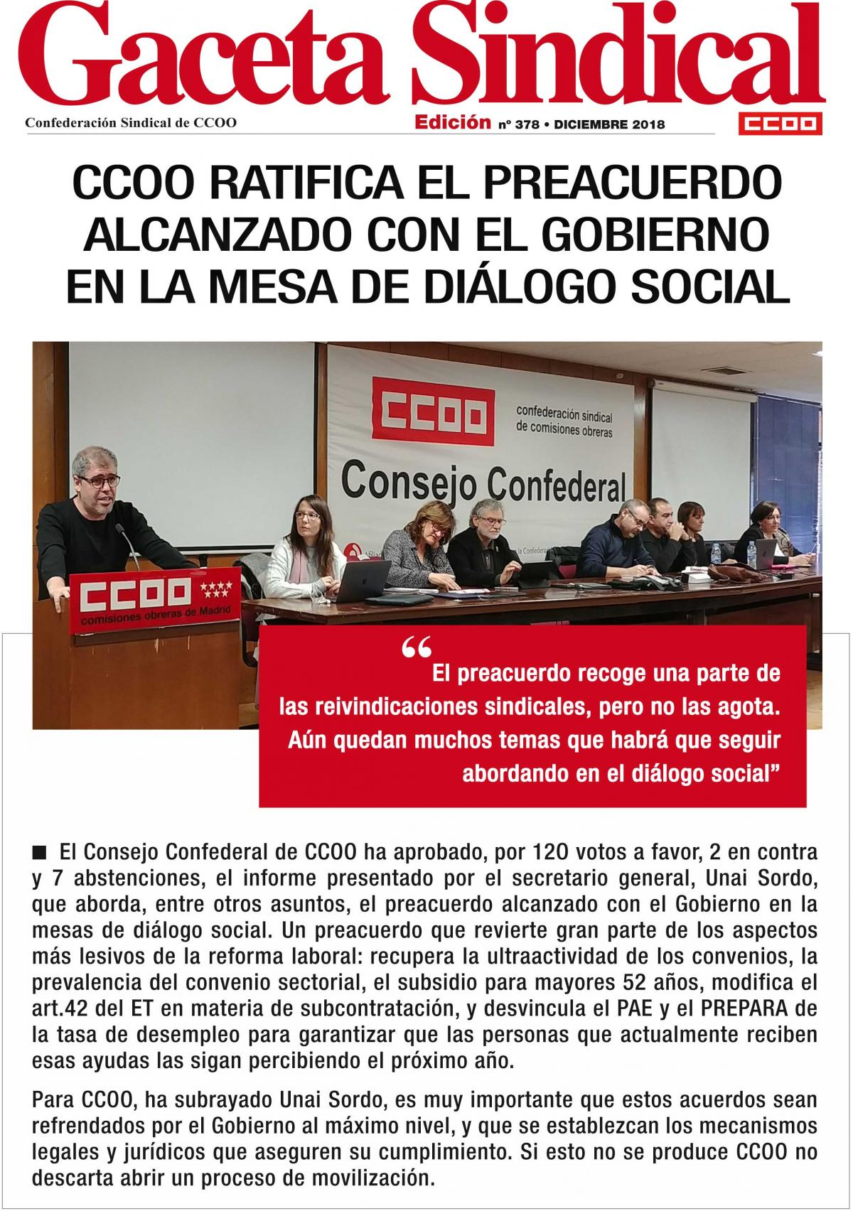 Gaceta Sindical 378