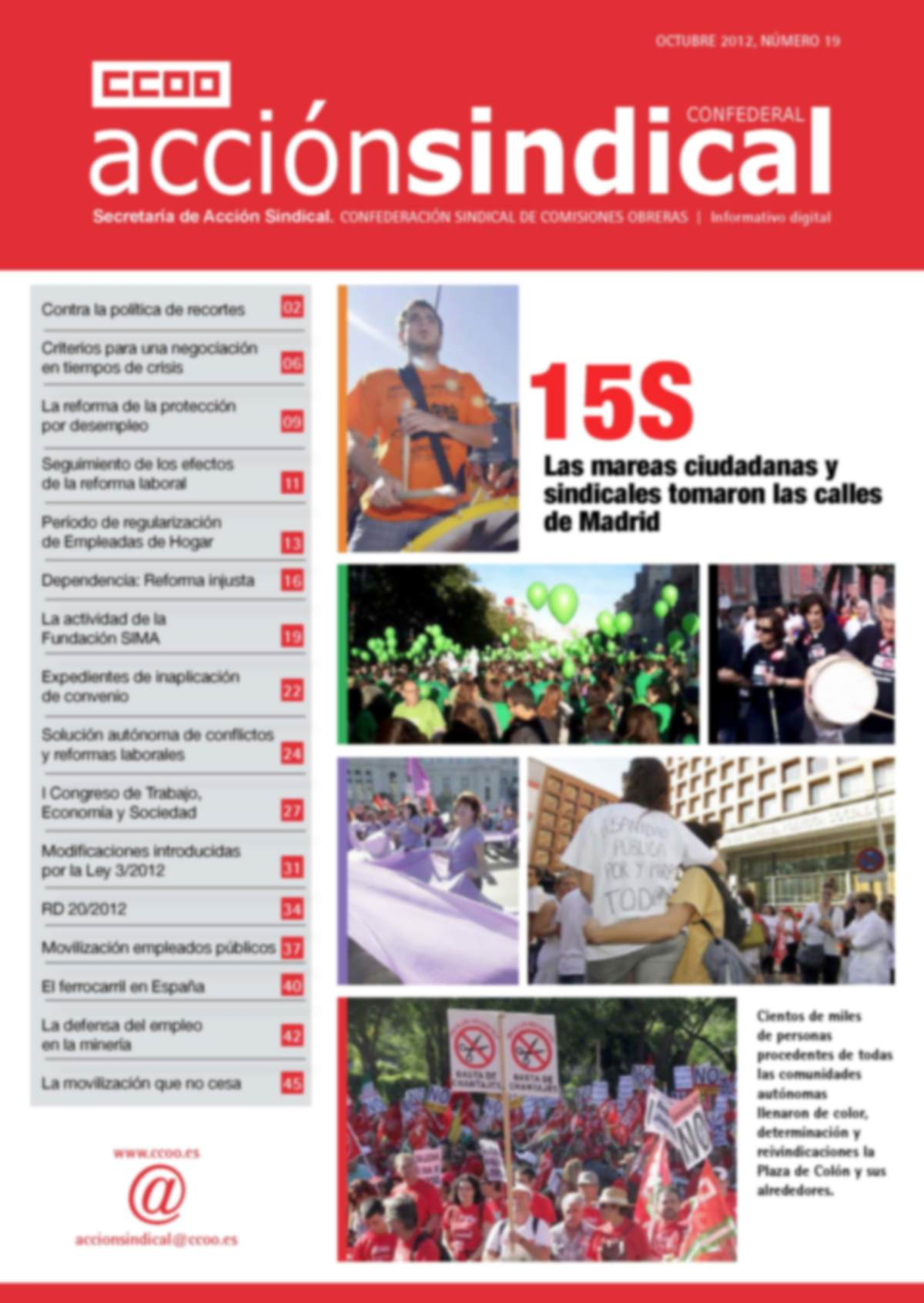 Informativo Digital Acción Sindical Confederal, nº 19