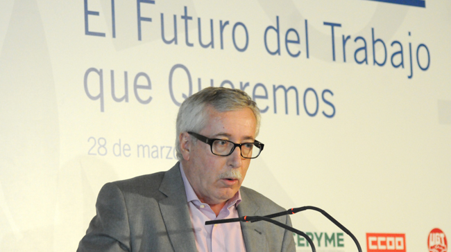 Intervención de Toxo en la Conferencia Tripartita