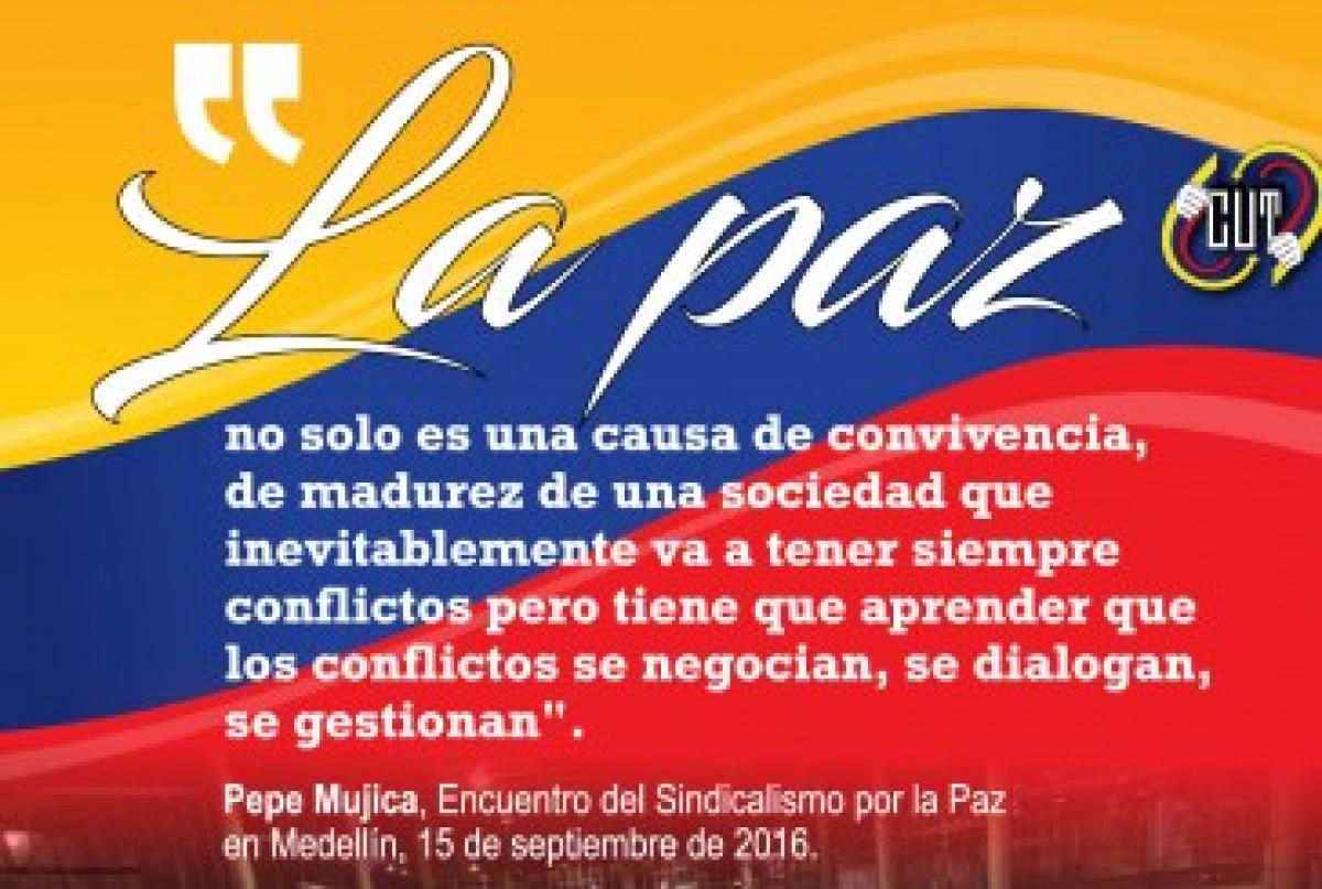 Cartel de la CUT Colombia