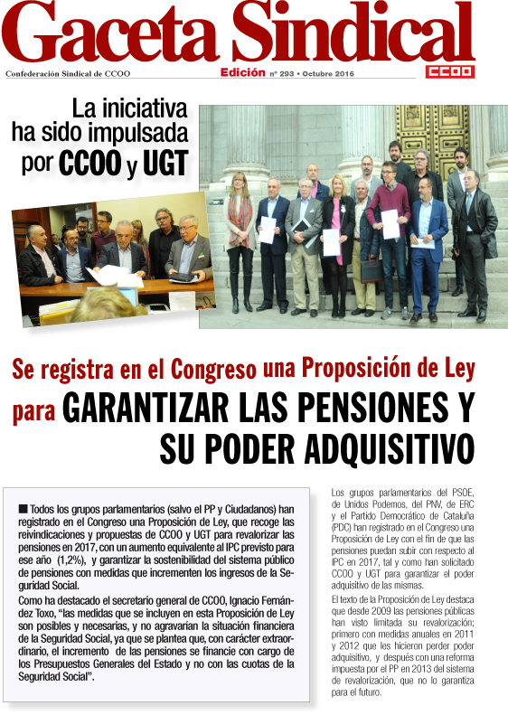 Gaceta Sindical Registro Congreso PL Pensiones