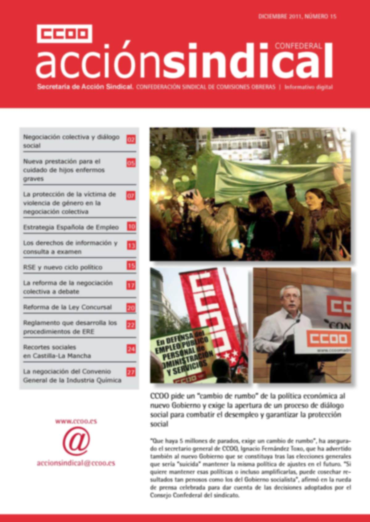 Informativo Digital Acción Sindical Confederal, nº 15