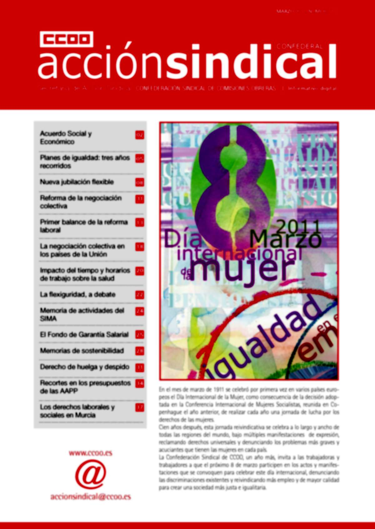 Informativo Digital Acción Sindical Confederal, nº 11