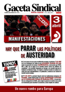Gaceta Sindical nº 194 movilizaciones 3 de abril