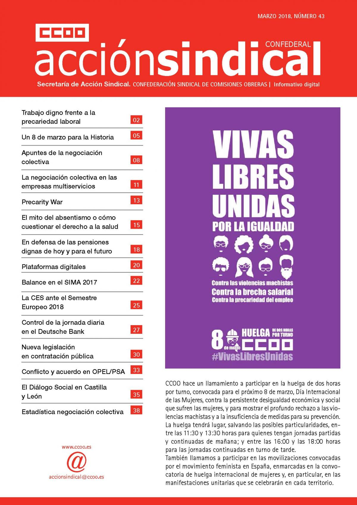 Informativo Digital Acción Sindical Confederal nº 43