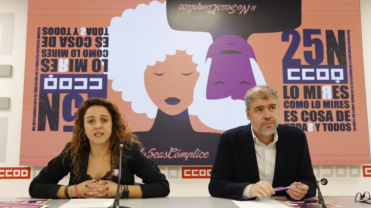 Elena Blasco y Unai Sordo en la rueda de prensa