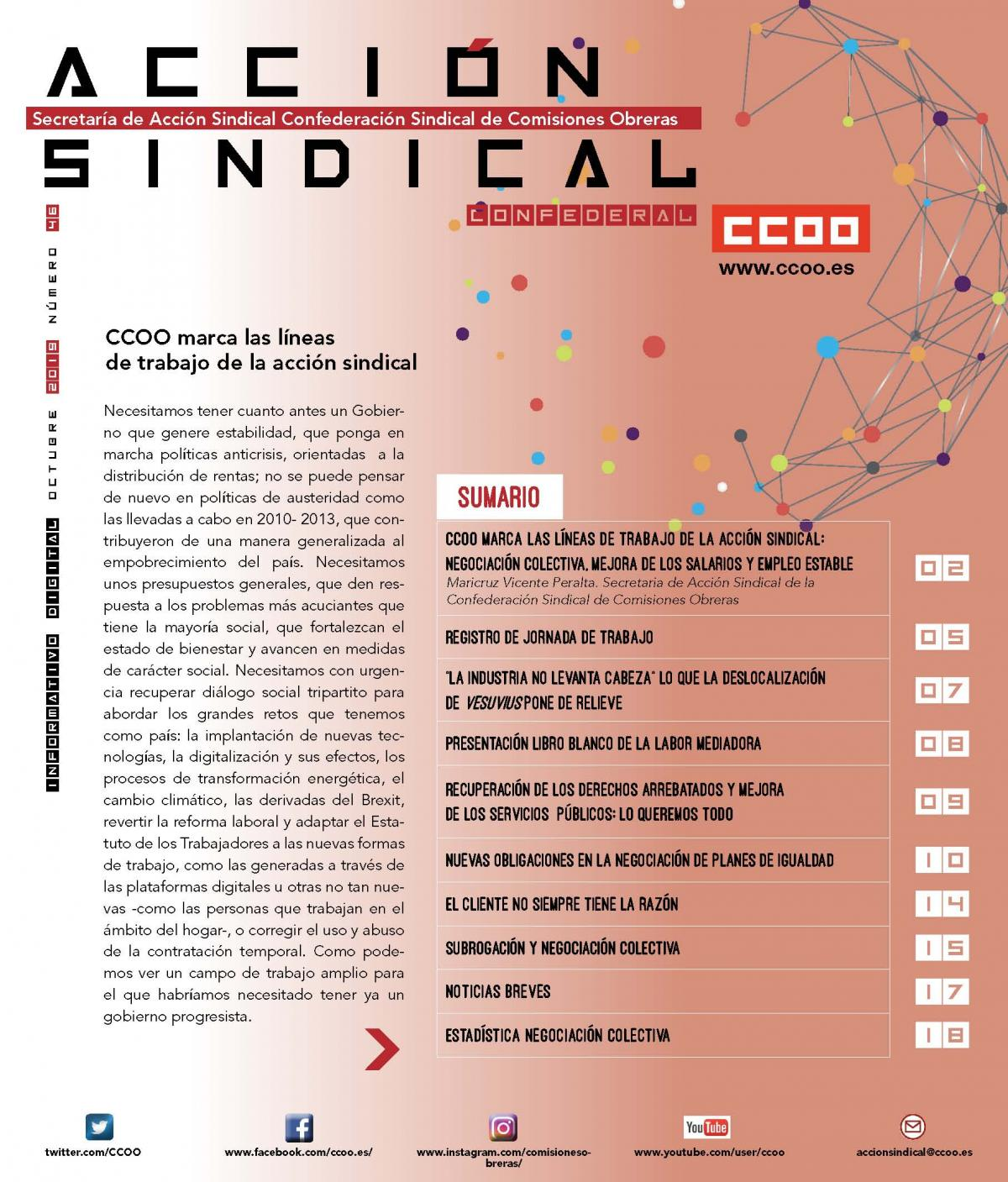 Informativo Digital Acción Sindical Confederal, nº 46