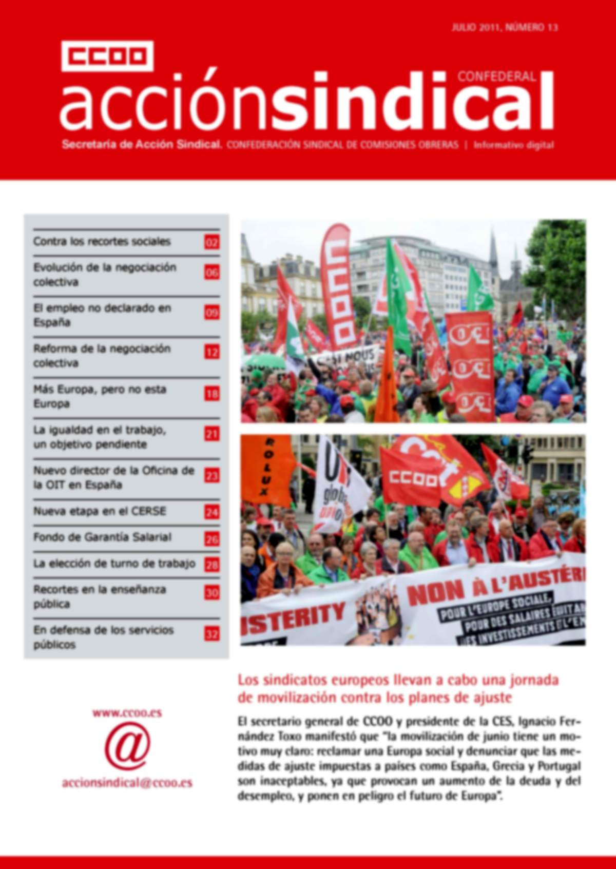 Informativo Digital Acción Sindical Confederal nº 13