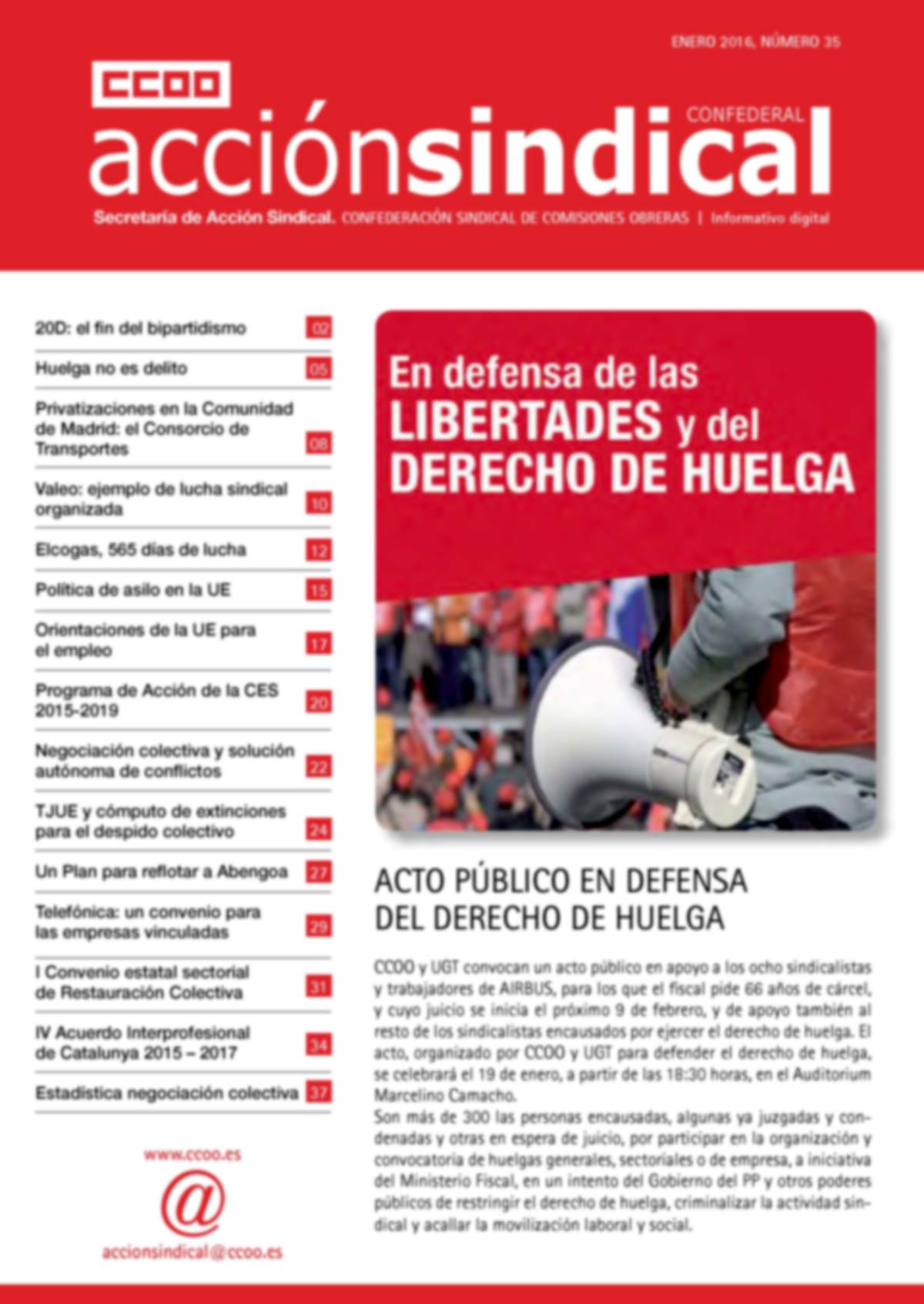 Revista de Acción Sindical Confederal, nº 35