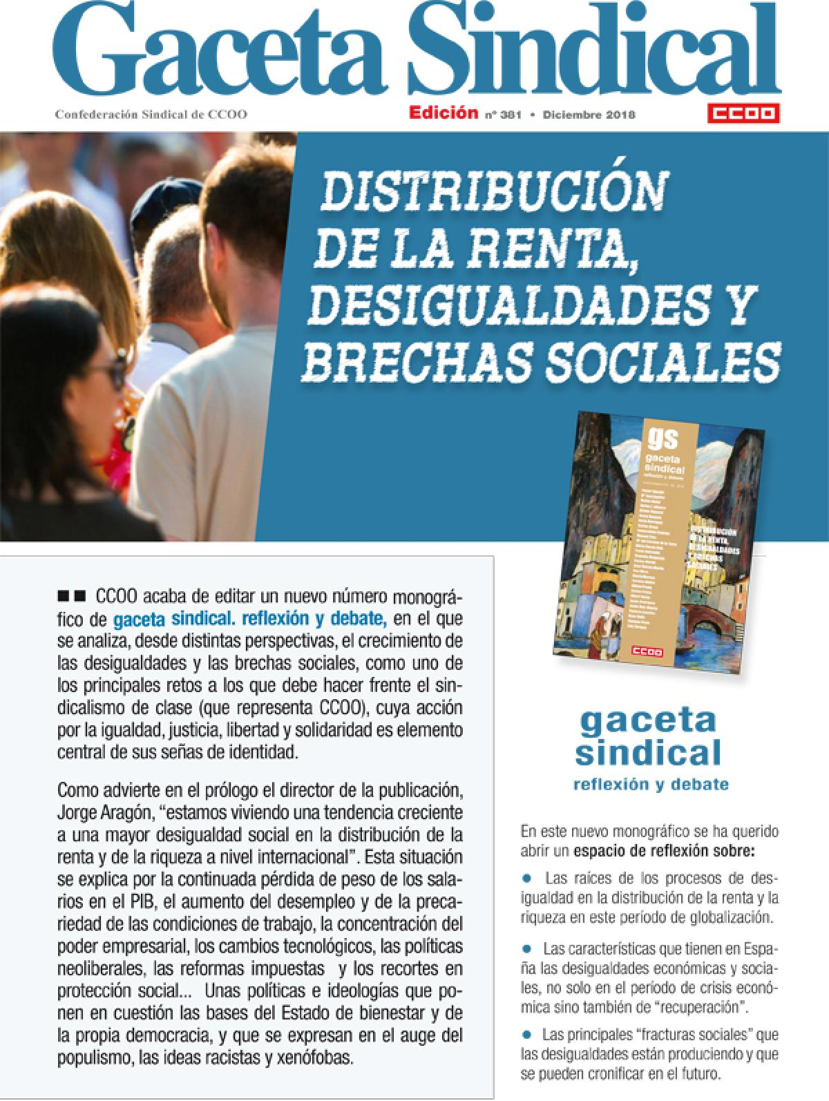Gaceta Sindical Digital nº 381